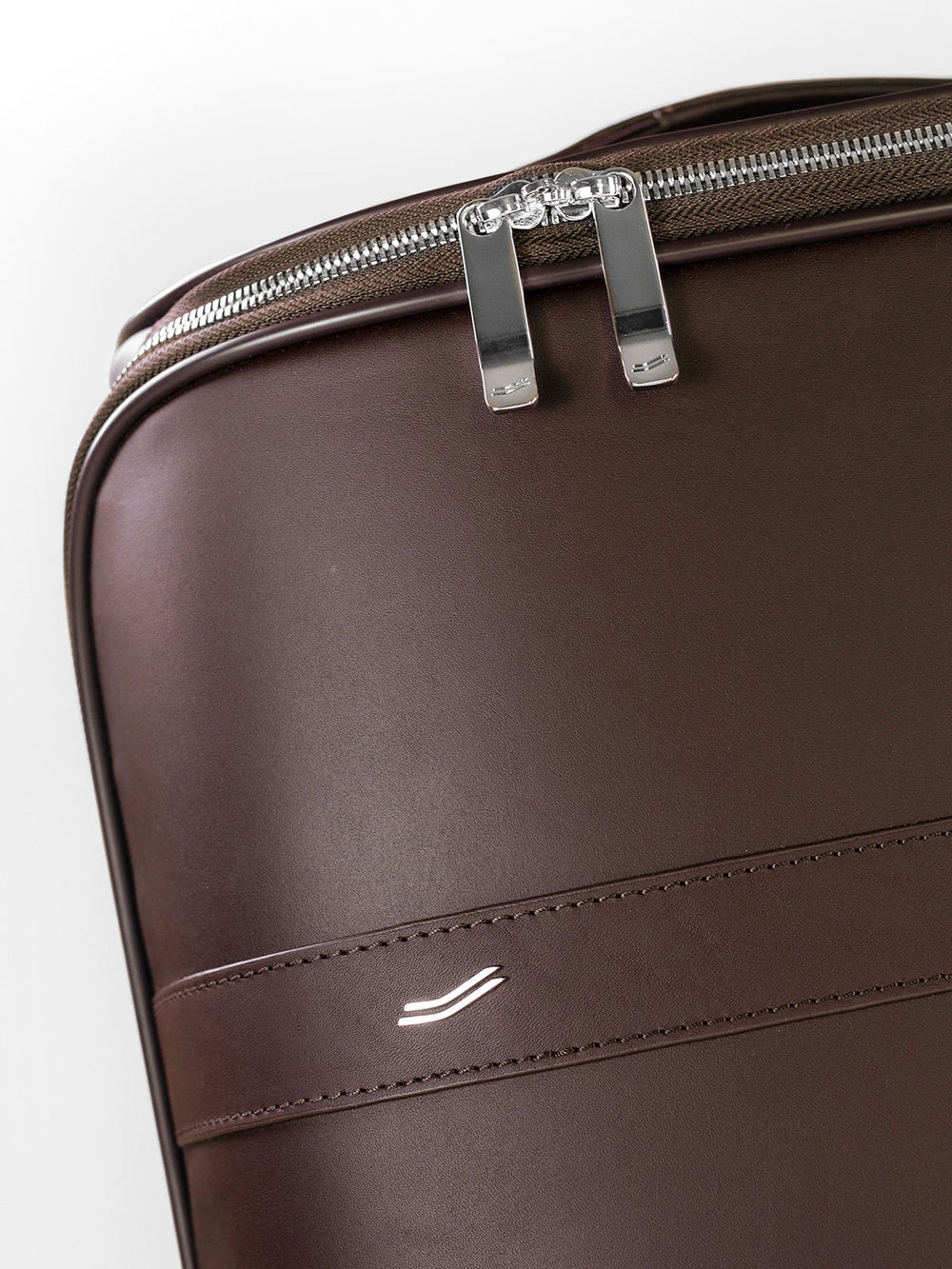 f38 carry on luggage in high quality italian brown leather braunes leder