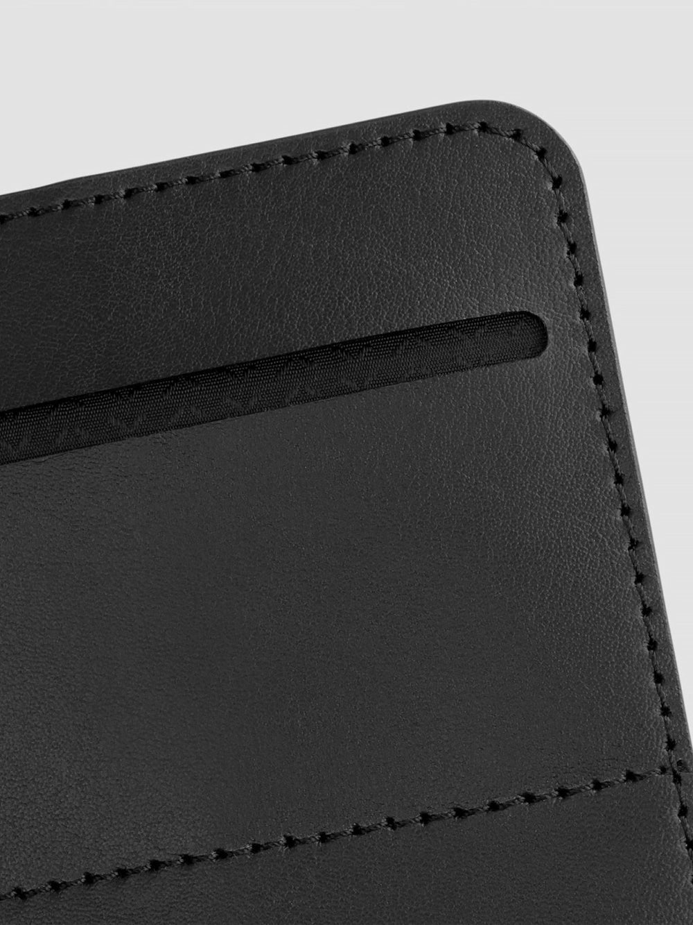 avant black italian leather passport wallet