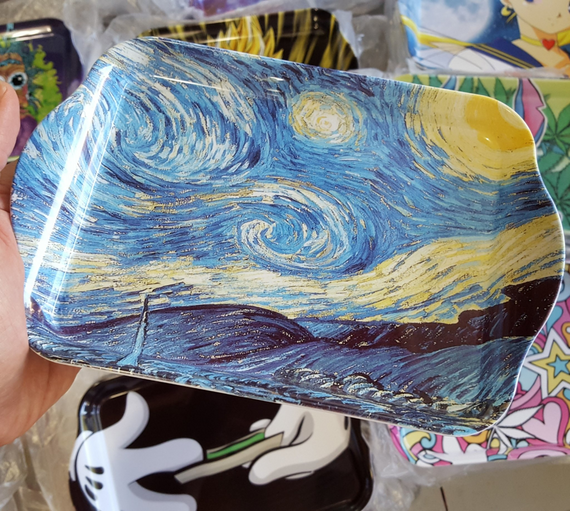 Starry Night Rolling Tray