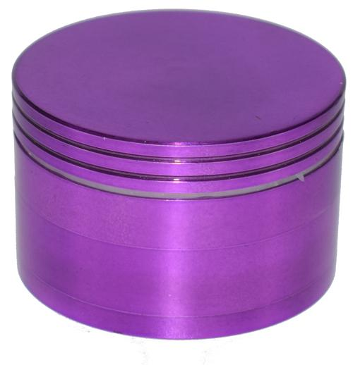 Aluminum Color - 80mm 4 Part Grinder - 1ct (Various Colors)