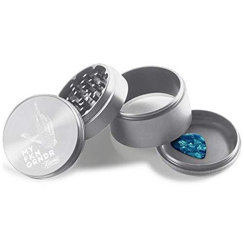 "Beamer Aircraft Grade Middle Finger Grinder Design Aluminum Grinder 2"" Tall 63mm (Various Colors)"