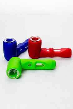 Silicone hand pipe with multi holes glass bowl and tube