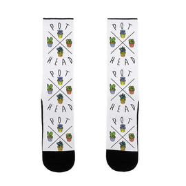 Pot Head Succulents US Size 7-13 Socks by LookHUMAN