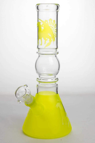 "12"" color coated glass water bong plastic coated  glass"