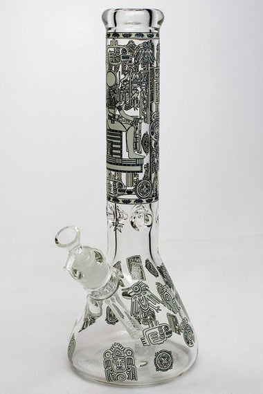 "13.5"" Glow in the dark 9 mm glass water bong - 19084"