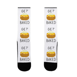Get Baked US Size 7-13 Socks by LookHUMAN