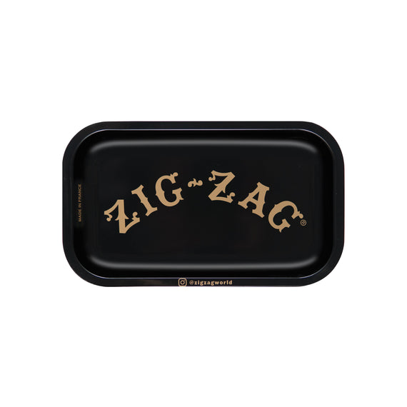 Zig Zag Small Black Rolling Tray - (1 Count)