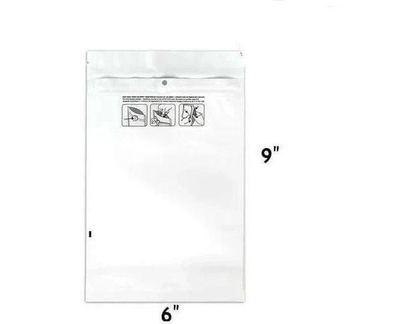 Mylar Bag DymaPak Child Resistant White 1 Oz - Vista - 28 Grams (100, 500 or 1000 Count)