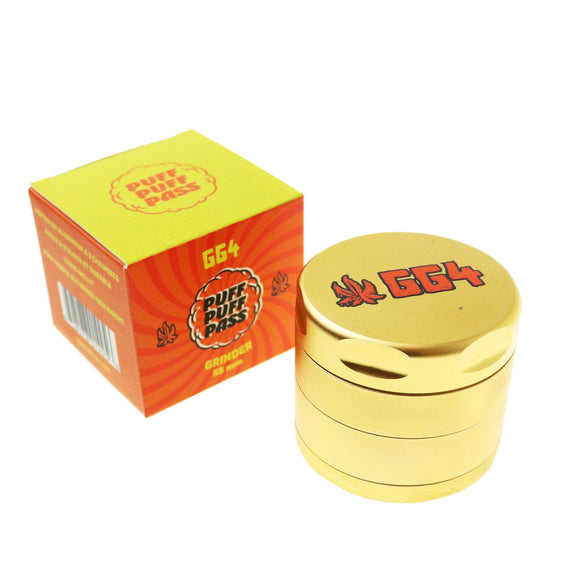Puff Puff Pass Aluminum Strain 3 Stage Grinder 55mm - Various Colors (1 Count)