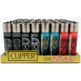 Clipper Lighter Skulls Display (48 Count)