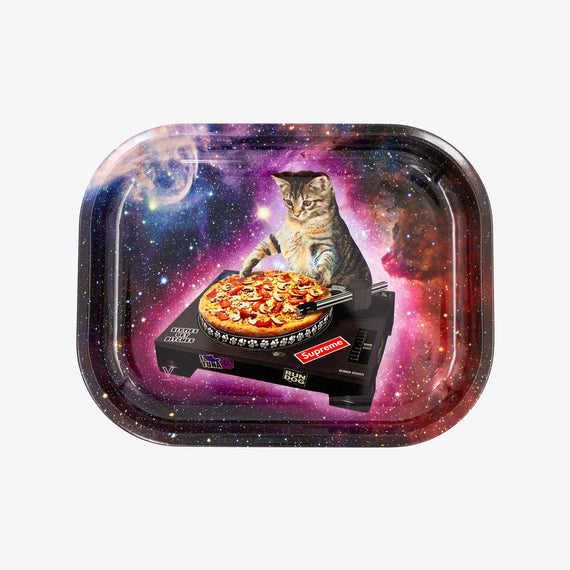 Pussy Vinyl Metal Rollin' Tray - Small or Medium Available - (1 Count)
