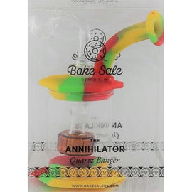 "Beamer - Bake Sale Annihilator 5"" Silicone And Glass Bubbler - With Quarts Bangor (1 Count)"