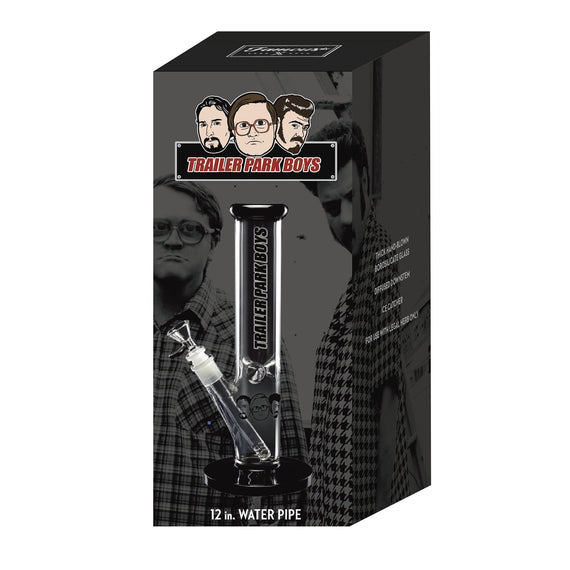 "Trailer Park Boys Straight Tube 12"" Water Pipe-1ct-Black"