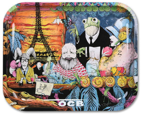 OCB Rolling Tray - Cafe Culture (Small, Medium or Large) (1 Count)