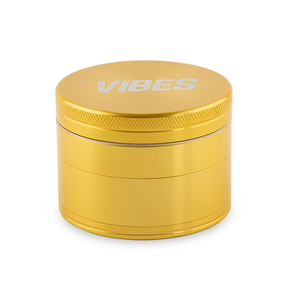 Vibes X Aerospaced Aluminum 63mm 4 Part Grinder - (Available in Black Or Gold)