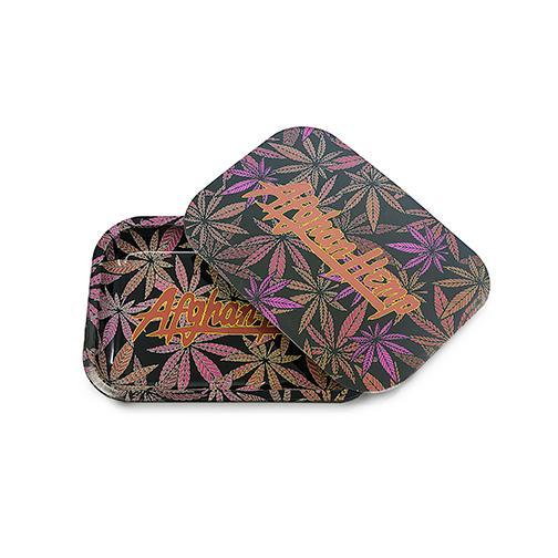 Afghan Hemp - Leaf Design Tray w/ Magnetic Lid