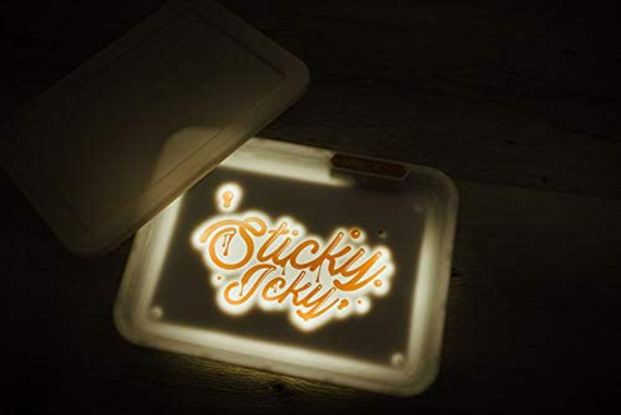 Sticky Icky Glow LED Tray with Smellproof Lid