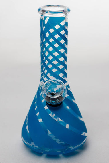 "6"" conical base glass water bong"