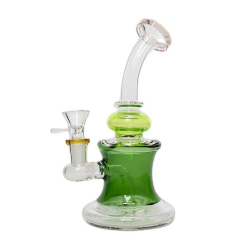 "8"" Triple Infused Fixed Stem Waterpipe - Colors May Vary -  (1 Count)"