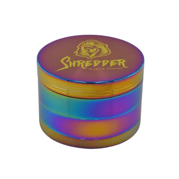 SHREDDER Premium Grinder 4 Part With Windows - Various Sizes - Rainbow (1 Count)