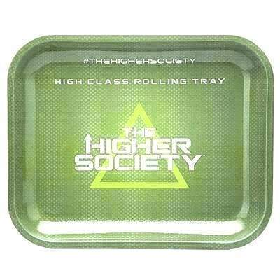 The Higher Society Rolling Tray Large Green