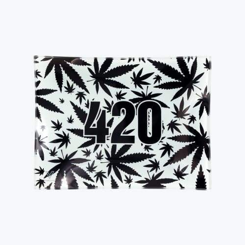 V-syndicate- 420 B&w Glass Rollin' Tray