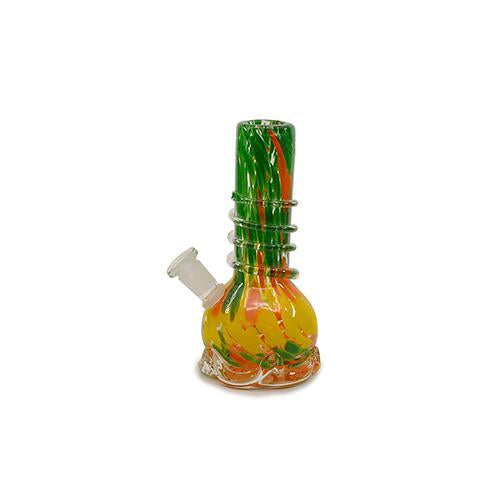 "Soft Glass Water Pipe - Rain Storm (7"")"