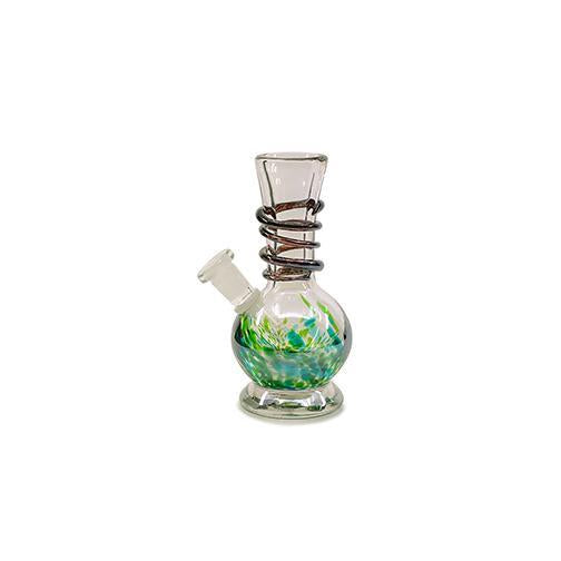 "Soft Glass Water Pipe - Bubble Base (7"")"