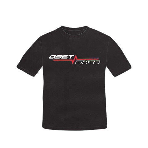 OSET ADULTS 'PULSE' BLACK T-SHIRT