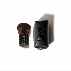 Bling Diamond Makeup brush with holder - Fit Glam Glow