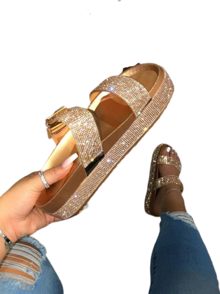 Bling Rhinestones Sandals - Fit Glam Glow