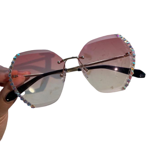 Diamond Studded Sunglasses - Fit Glam Glow