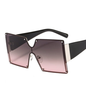 Oversized Rimless Square Sunglasses - Fit Glam Glow