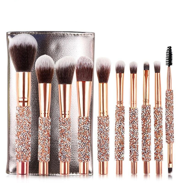 Diamond Handle Makeup Brushes - Fit Glam Glow