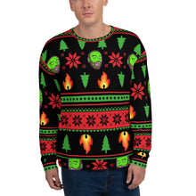 Load image into Gallery viewer, Ugly LIT-mas Sweater by Bill Slinnton (Black)