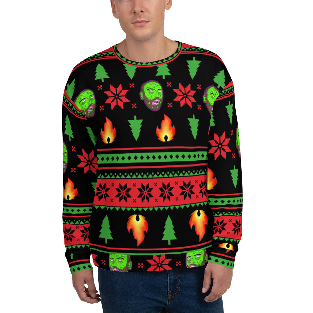 Ugly LIT-mas Sweater by Bill Slinnton (Black)