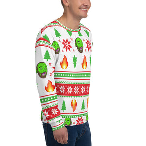 Ugly LIT-mas Sweater by Bill Slinnton (White)