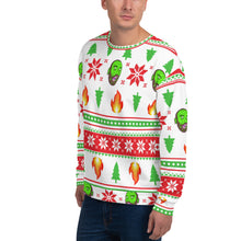 Load image into Gallery viewer, Ugly LIT-mas Sweater by Bill Slinnton (White)