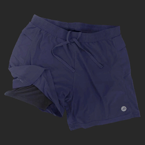 Athlos Mens Distance Shorts Navy Blue