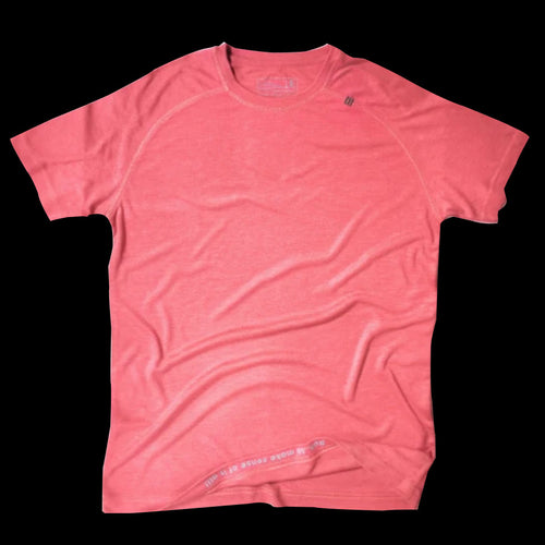 Athlos Mens Distance Running Tee- Flamingo Pink