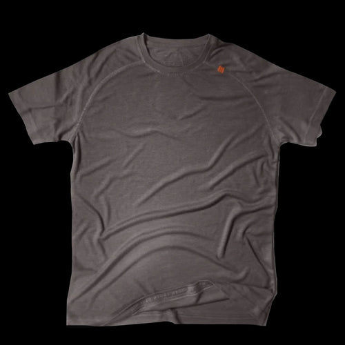 Athlos Mens Distance Running Tee- Gravel Grey