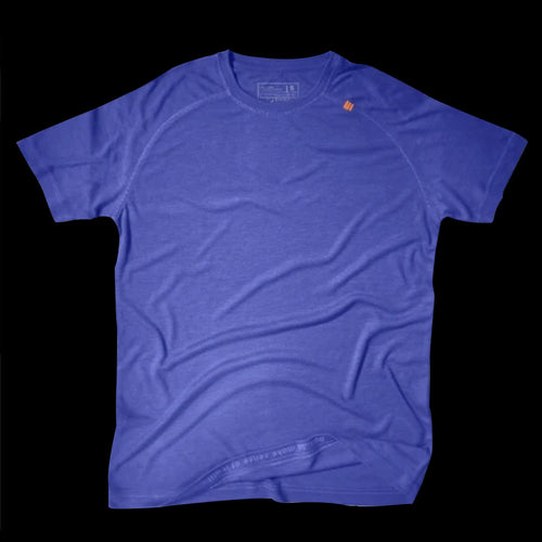 Athlos Mens Distance Running Tee- Jodhpur Blue