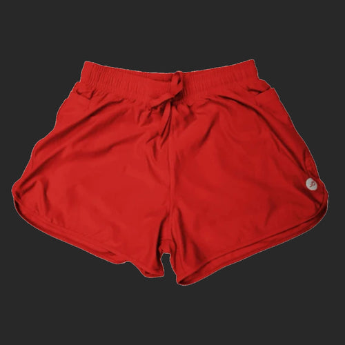 Athlos Womens Distance Shorts Santa Red
