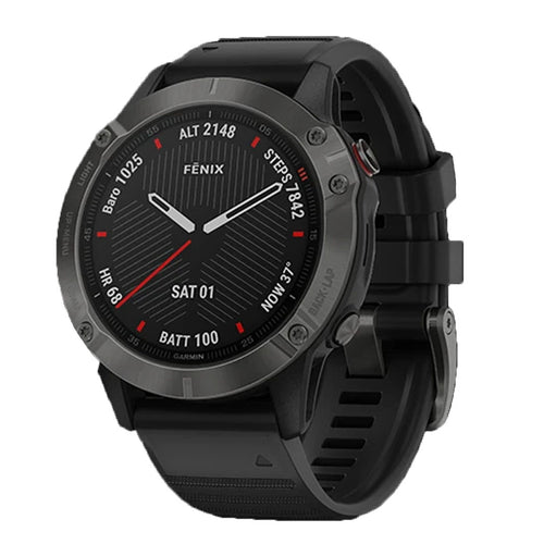 Garmin Smart Watch Fenix 6 Carbon Grey/Black