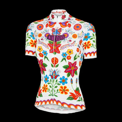 Cycology Frida (White) Women's Jersey - Best Cycling Jersey In India