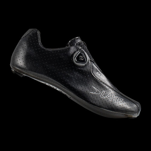 Lake CX301 Black Wide Carbon Sole Cycling Shoes