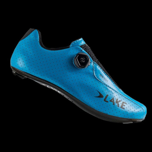 Lake CX301 Blue Wide Carbon Sole Cycling Shoes