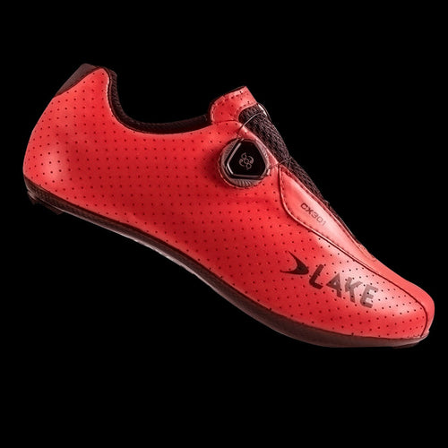 Lake CX301 Red Wide Carbon Sole Cycling Shoes