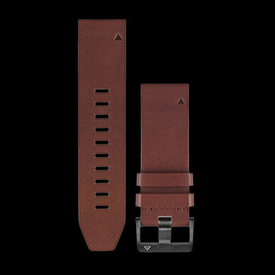 Quick Fit 22 Watch Band - Premium Leather Colour Brown