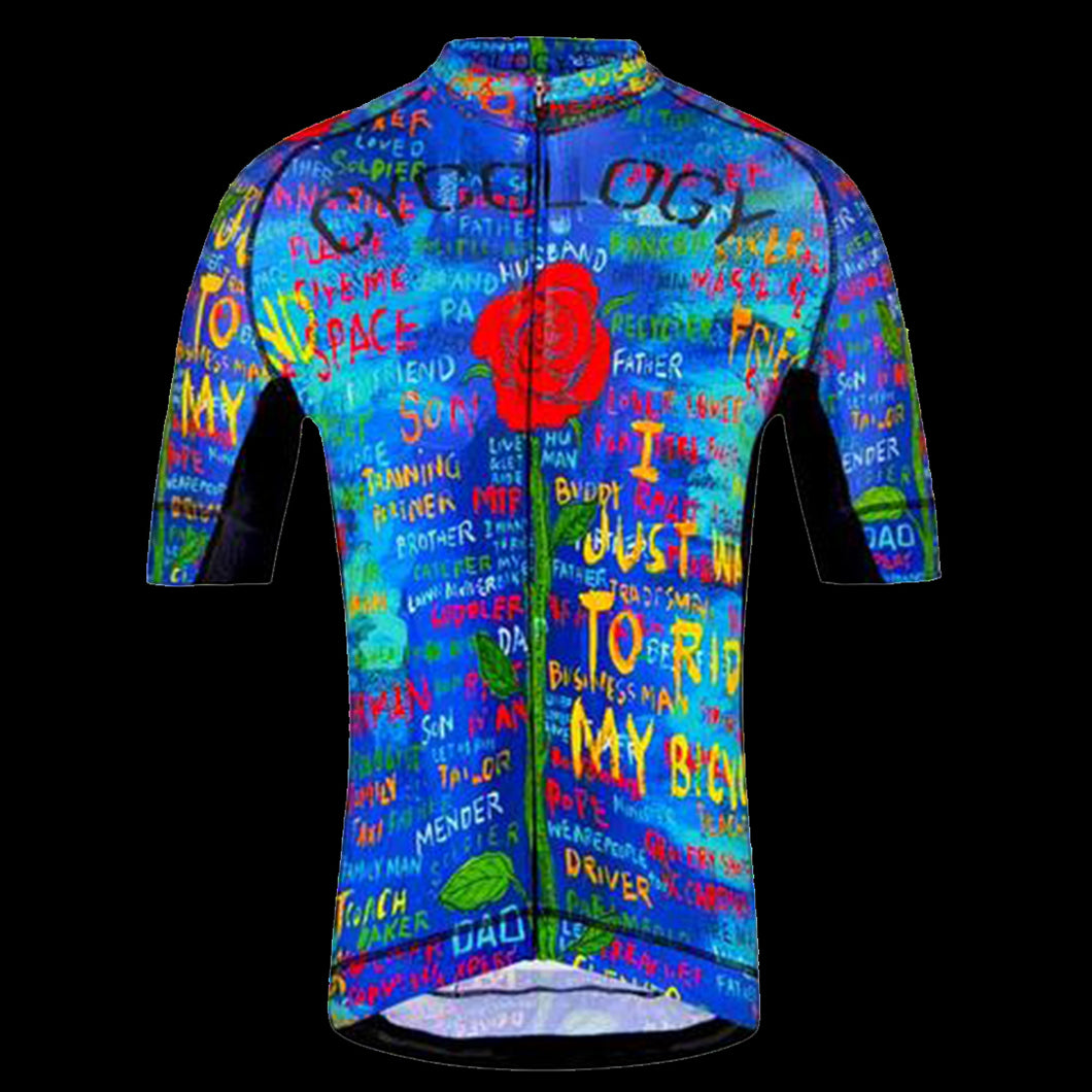 CYCOLOGY SEE ME MEN'S CYCLING JERSEY - BLUE